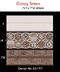Ceramic glazed wall tile 25 x 75 cm