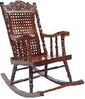 Shilpi Amazing Hand Carved Wooden Rocking Chair