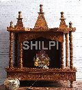 Shilpi Brown Sheesham Wood Exquisite Temple