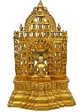 Aakrati- Lord Gautam Buddha Statue of Brass Metal with Temple