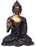 antique brass buddha statue