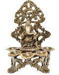 Bronze Designer Lamp With Lord Ganesha