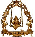 Bronze Lord Ganesh on Swing Statue