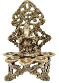 Ganesha Murti with 5 diya a unique metal craft for gift and decoration