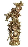 Krishna Brass Metal Religious Statue