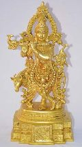 Krishna brass statue for your indoor and out door metal decoration