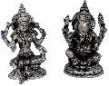 Laxmi Ganesh statue made in aluminium