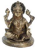 Laxmi Ji - A Indian idol Brass Statue in Antique Finish