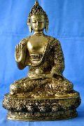 Lord Gautam Buddha Abhay Mudra Brass Statue