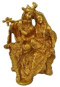 Religious Lord Radha Krishna Statue for your home decoration Brass metal made fi