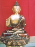 Meditating Lord Gautam Buddha Devotional Brass Statue