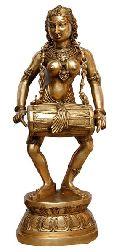 Metal Big size Dacing Lady brass sculpture