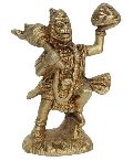 Religious Statue of Lord Hanuman made in brass metal