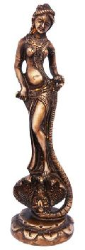 Sculpture of lady desigined by indian artist in metal bronze