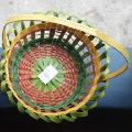 Hand madeBamboo Flower Basket with Handel