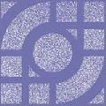 Anti Skid Arc Blue Tile