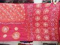 Bandhani Sarees Gaji Red Fancy