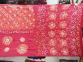 Gaji Bandhani Sarees Red Fancy