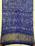 Gaji Bandhani Sarees Royal Blue