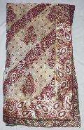 Designer Banarsi Printed Tissue Party Wear Saree  Cream Colour