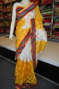 Designer fancy Embroidered Resham Work Crepe Silk Saree