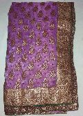 Designer Gold Banarsi Printed Tissue Party Wear Saree Colour