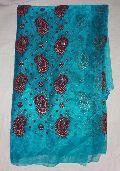 Designer Gold Banarsi Printed Tissue Party Wear Saree Blue Colour