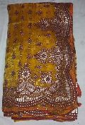 Designer Gold Banarsi Printed Tissue Party Wear Saree Yellow Colour