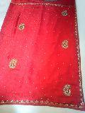 Designer Handwork Red Color Party Wear Sarees