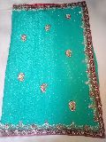 Designer Handwork Stone Party Wear Sarees