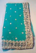 Designer Heavy Border Handwork  Party Wear Sarees