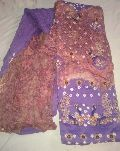 Designer Purple Embroidered Cotton Sanganeri Printed Punjabi Suits