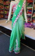 Designer Supernet Cotton Gota Work  Saree
