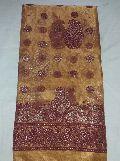 Indian Designer Gold Banarsi Printed Tissue Party Wear Saree