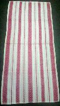 V Border Pink Towel