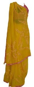 Pure Georgette Hand Embroidered Saree