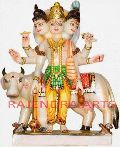 Colored Marble Dattatreya Statue