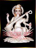 White Saraswati Mata Statue