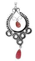 Silver Gemstone Pendant  - Sgp  003