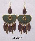 Brass Earring Antique (CJ-7663)