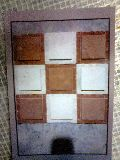 Agra Red Dholpur Beige Mosaic, Scorpio Brown Marble