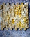 Gold Ita Mosaic, Natural Stone, Emerald Green Marble
