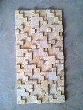 Ita Gold Sand Mosaic, Natural Stone, Indian Stone