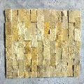 Ita Gold Small Mosaic, Natural Stone, Brown Antique Marble