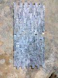 Slate Black Mosaic, Natural Stone, Ivory Brown Marble
