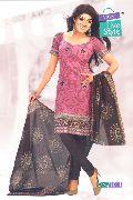 Designer Cotton Suit Dupatta Dress Materials