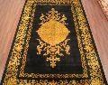 Black Gold Silk On Cotton Carpets