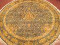 Round Silk On Cotton Carpets