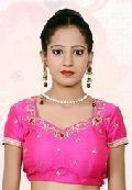Pink Dupion Art Silk Readymade Blouse