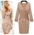 Knitted Long One Piece Dress